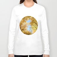 rush Long Sleeve T-shirts featuring Gold Rush by Kim Bajorek
