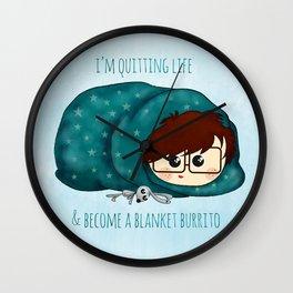 blanket burrito /Agat/ Wall Clock