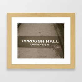 Heading to Brooklyn Framed Art Print