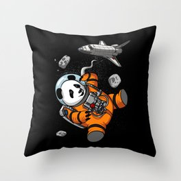 Panda Bear Space Astronaut Cosmic Animal Throw Pillow