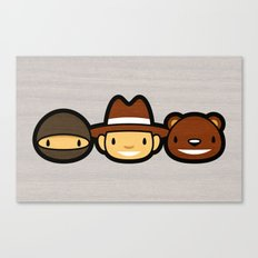 Ninja Cowboy Bear Canvas Print
