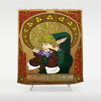 courage Shower Curtains featuring COURAGE by BlackTaintedHeart
