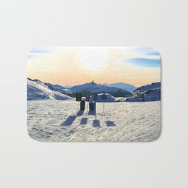The snow, signs, shadows, sun, sky - and the surrounding! Bath Mat