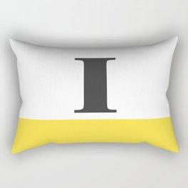 Monogram Letter I-Pantone-Buttercup Rectangular Pillow
