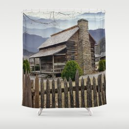 Appalachian Mountain Cabin Shower Curtain