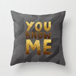 YOU KNOW ME #GOLDENPSALMS Throw Pillow