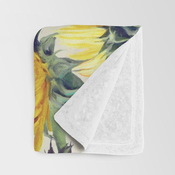 Sunflowers Forever Throw Blanket