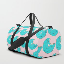 Teal Sprinkled Donut Duffle Bag