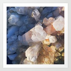 Quartz Crystal Art Print