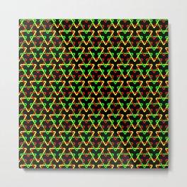 Ethiopian Triangles Metal Print