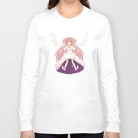madoka Long Sleeve T-shirts featuring Goddess Madoka by Nozubozu
