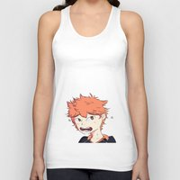 haikyuu Tank Tops featuring Birb Son by The London Fairy