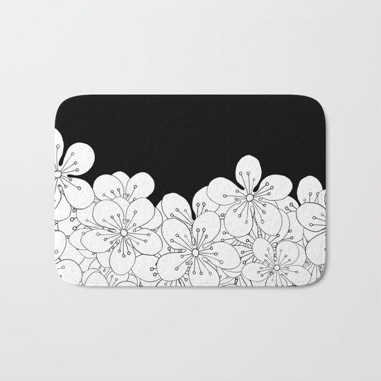 Cherry Blossom Boarder Bath Mat