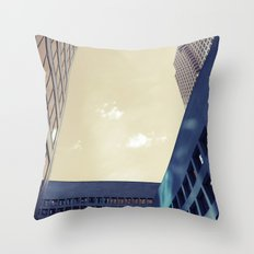 looking up in toronto... Throw Pillow