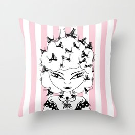 Lady CriCri Throw Pillow
