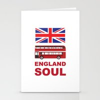 england Stationery Cards featuring England Soul by Tony Vazquez