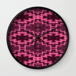 Glowing Aztec Futuristic Quilt Wall Clock