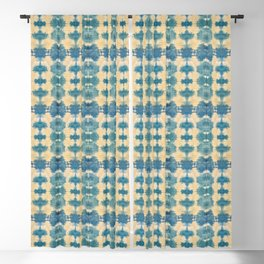 Light Shibori Blues Blackout Curtain