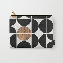 Mid-Century Modern Pattern No.1 - Concrete and Wood Carry-All Pouch