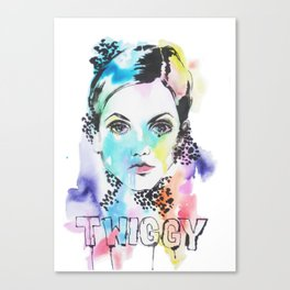 I heart Twiggy Canvas Print