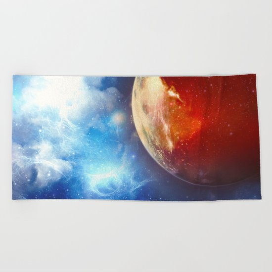 Sunsets on Mars are Blue Beach Towel