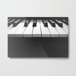 Black & White Piano Photo Metal Print