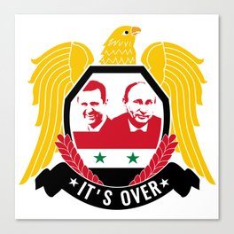 IT'S OVER. ASSAD WON. Canvas Print