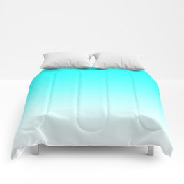 Aqua to White Ombre Comforters