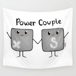 Power Couple Wall Tapestry
