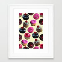 cupcakes Framed Art Prints featuring Cupcakes by Tangerine-Tane
