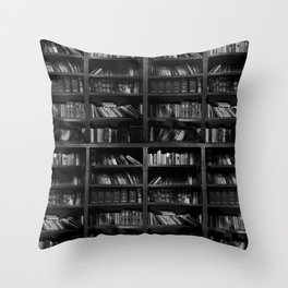 Antique Library Shelves - Books, Books and More Books Throw Pillow