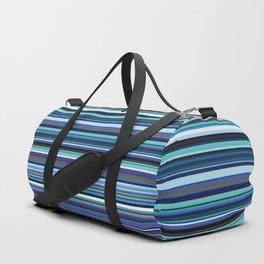 Old Skool Stripes - Blues - Horizontal Duffle Bag