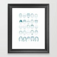 Breaking Bad all Faces Framed Art Print