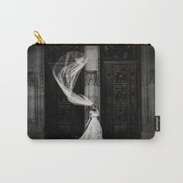 Black and White Bride Carry-All Pouch