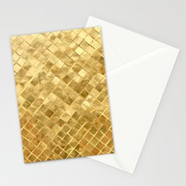 Golden Checkerboard Stationery Cards
