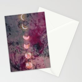 Lunar phase color Stationery Cards