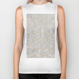 Concrete Hexagonal Pattern Biker Tank