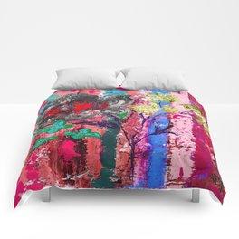 Pink Bird nest Comforters