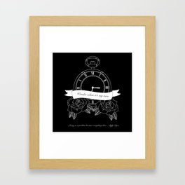 """""""Living is a problem because everything dies"""" - part II - Biffy Clyro Framed Art Print"""
