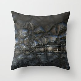 mystical London Throw Pillow