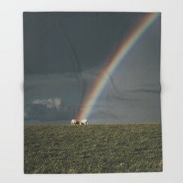Rainbow II  - Landscape and Nature Photography Throw Blanket