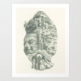 Tenants Within (Angkor Thom) Art Print