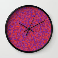 friday Wall Clocks featuring Friday by Bunyip Designs
