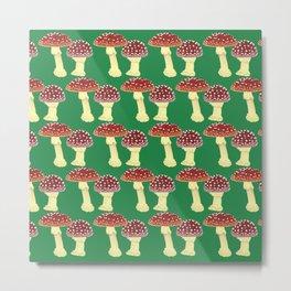 offset toadstools green Metal Print