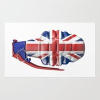 british flag Area & Throw Rugs featuring British grenade by GrandeDuc