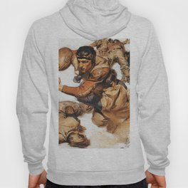 Joseph Christian Leyendecker - Rugby Player, Tackle - Digital Remastered Edition Hoody