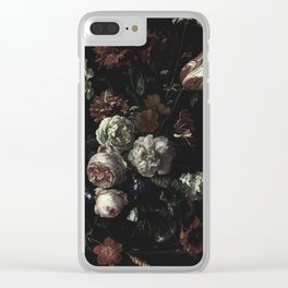 Arms Full Of Flowers II [antique painting remixed] Clear iPhone Case