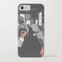 gangster iPhone & iPod Cases featuring The Gangster by Dulevartiano