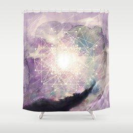 sacred geometry Shower Curtain