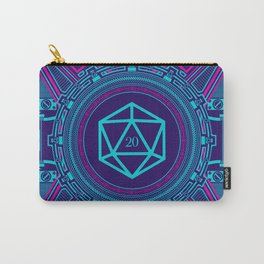 Dice Giveth and Taketh Away Cyberpunk D20 Dice Tabletop RPG Gaming Carry-All Pouch